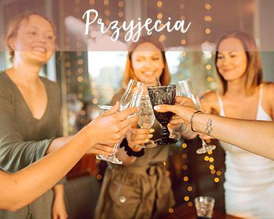 Przyjęcia - zdjęcie grupy bawiących się na przyjęciu kobiet